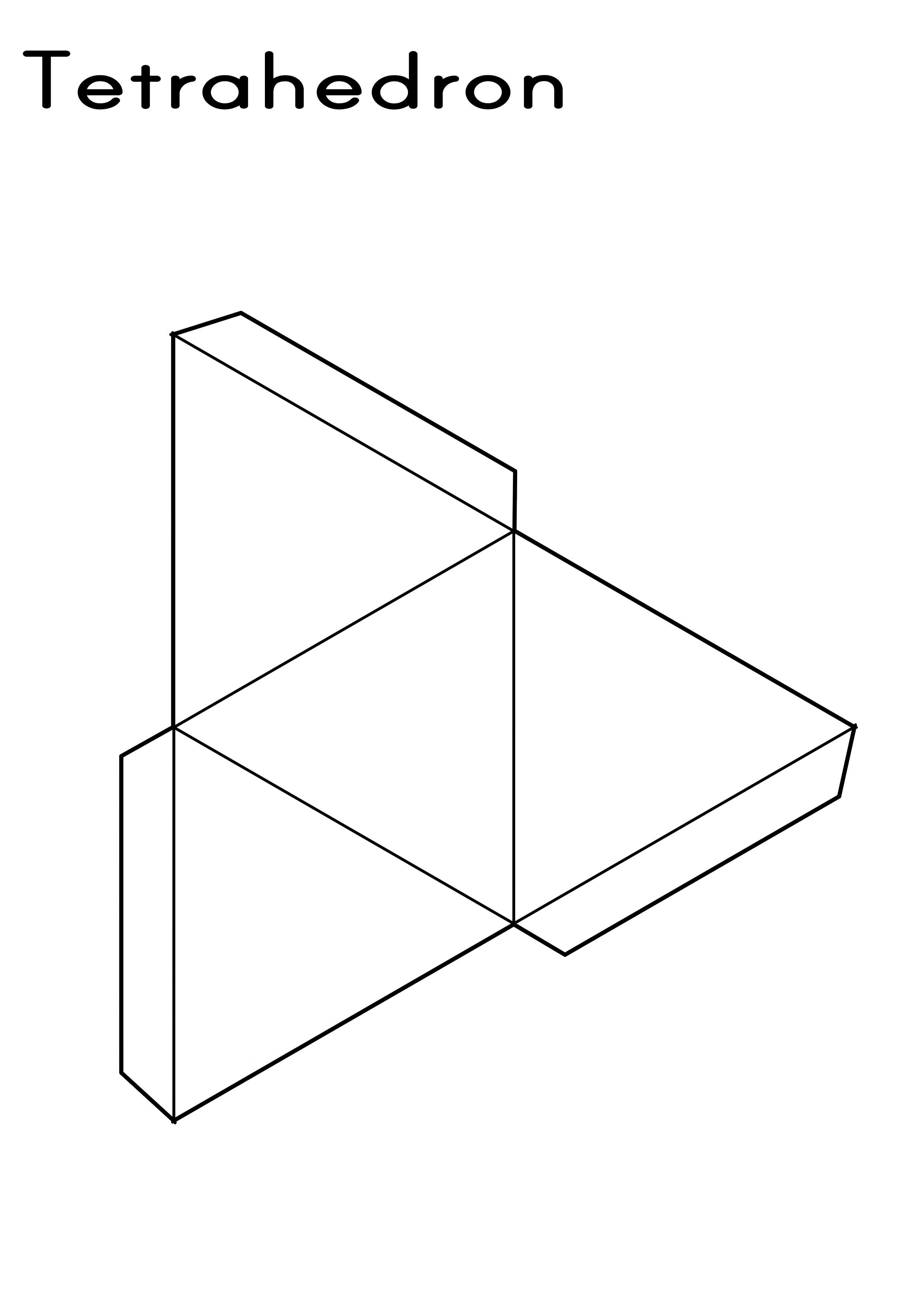 Tetrahedron Printable