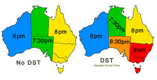 Daylight savings time date in Sydney