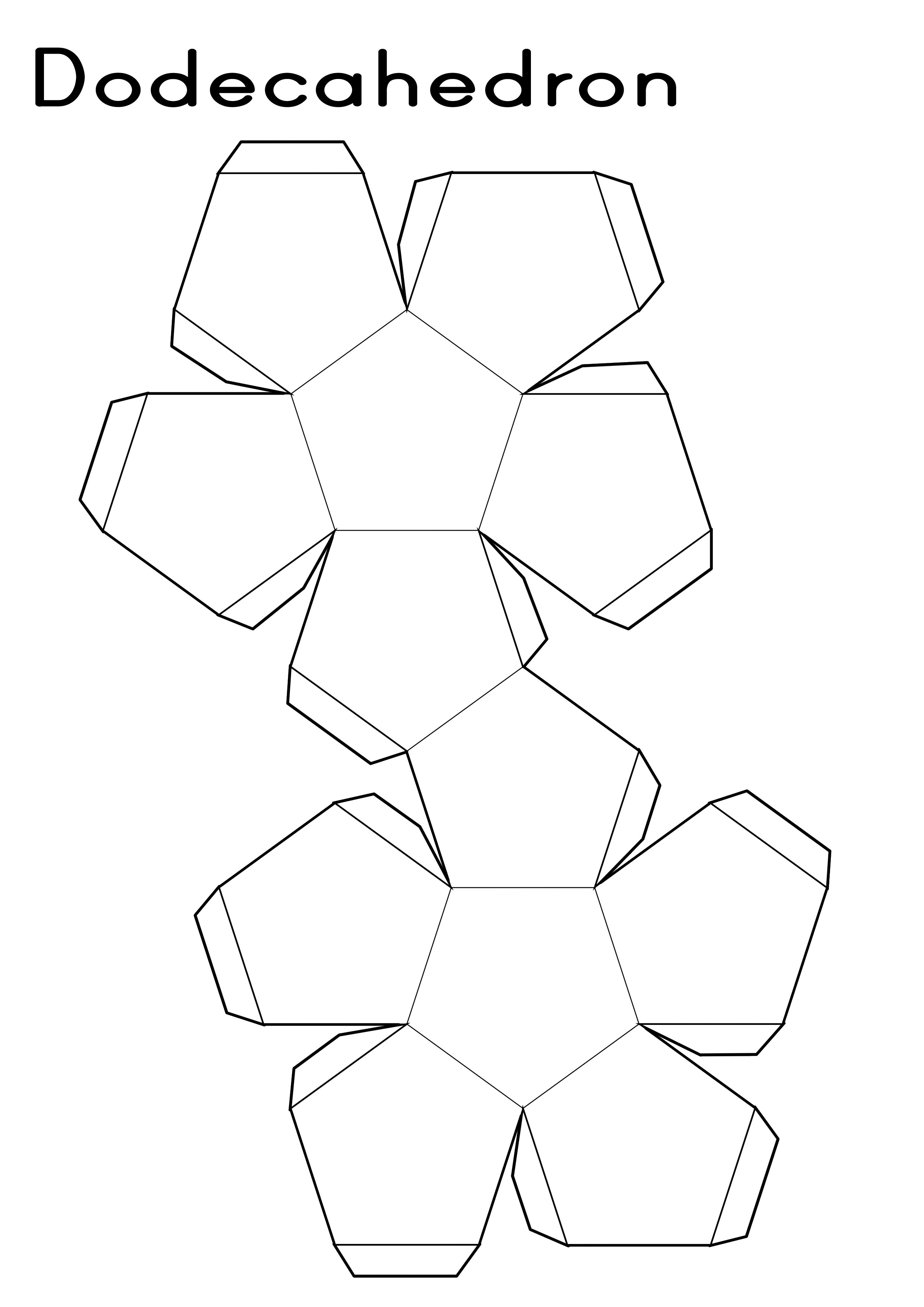 Dodecahedron Printable