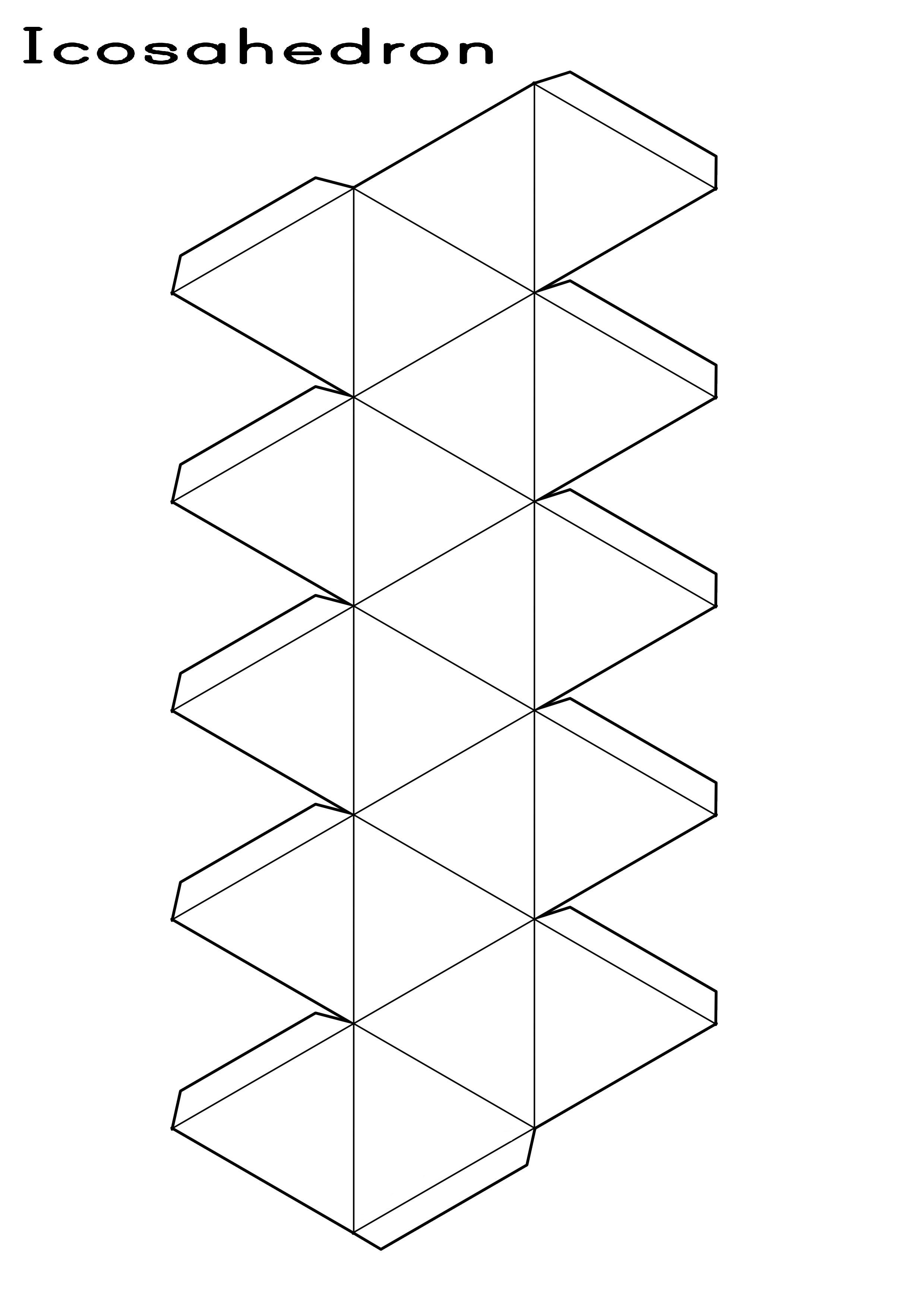 Icosahedron Printable