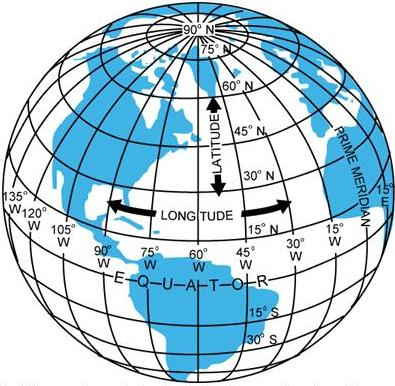 Lines in the world mathspace the diagram shows lines of longitude and latitude marked on a world map the blue shaded areas represent landmasses and the white areas represent where gumiabroncs Choice Image